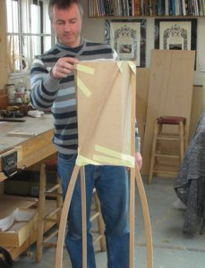 Our own Mr Funnell in the early days making a full sized prototype.