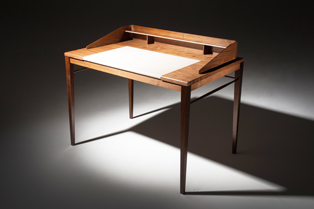 Desk - Walnut and leather