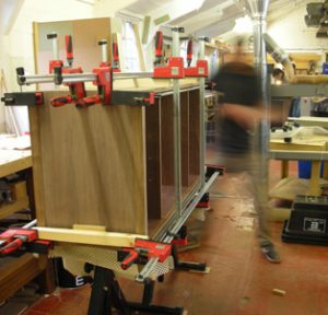 Luke Olney moving so fast on a glue up.