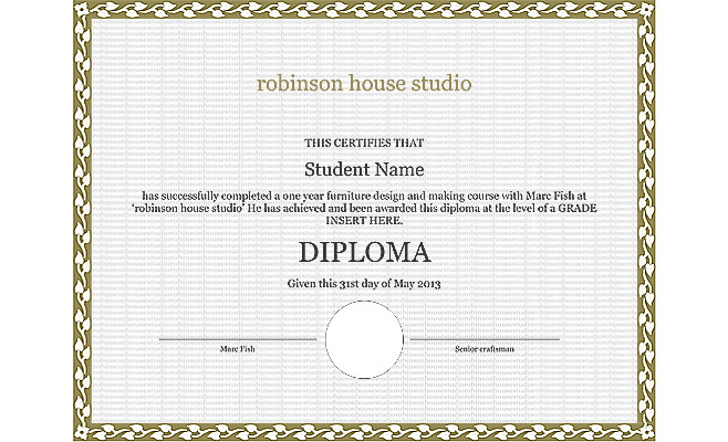 student's diploma