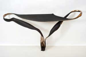 Marc Fish one piece series - console in bronze and squid ink