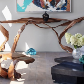 Marc Fish's pieces featured in Architectural Digest