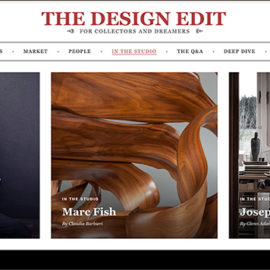 The Design Edit Sept 2019, Marc Fish. In the Studio