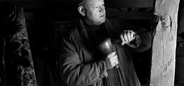 Dickie Baugh, the Wood Warlock, woodcarver