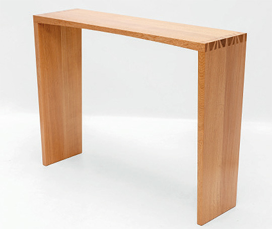 Theo's Highly Commended console table in Japanese oak