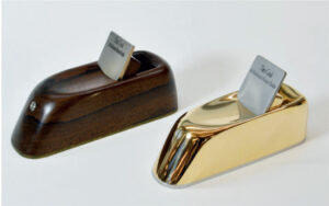 Two of Theo's unusual but highly-ergonomic scraper planes
